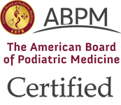Logo Recognizing Fixing Feet PLLC's affiliation with ABPM